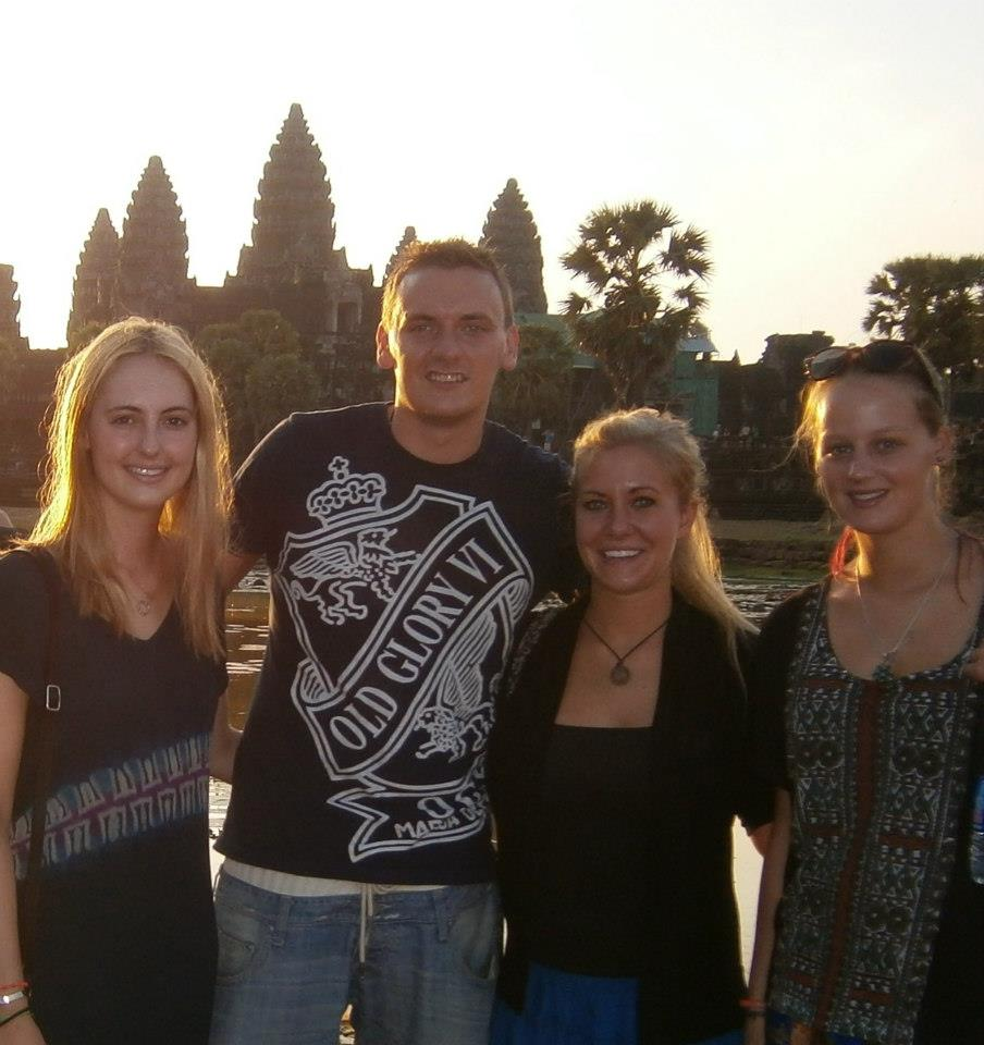 The Brits and I at Angkor Wat Siem Reap Cambodia