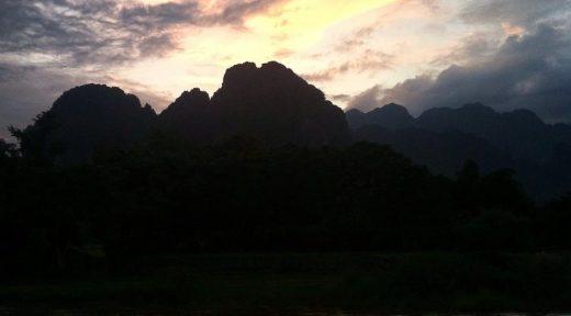 Vang Vieng Laos Sunset