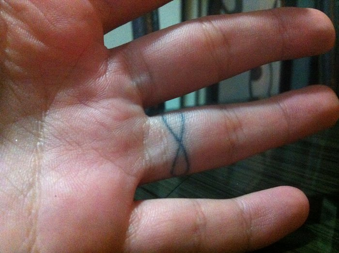 Bamboo Tattoo in Thailand Infinity Finger