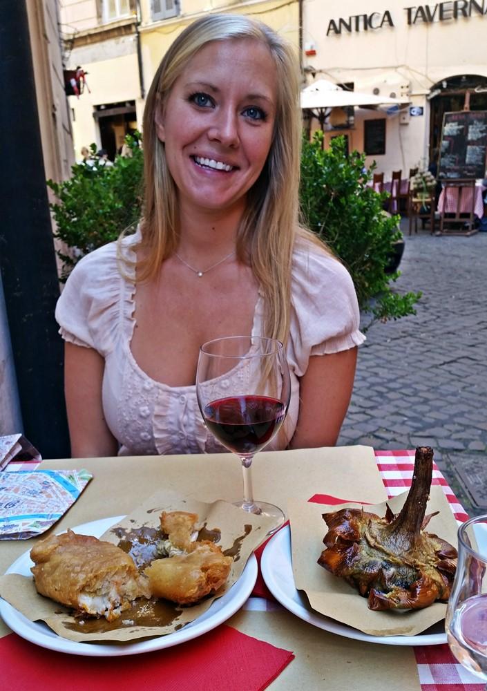 Jewish Artichokes in Rome