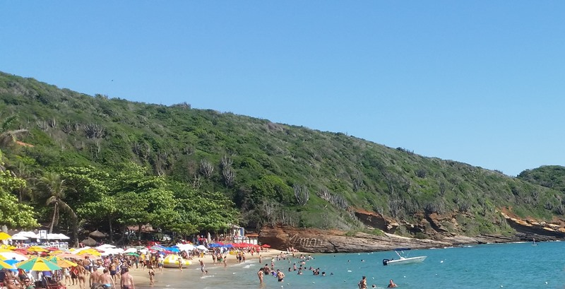 Busy Beach in Buzios Brazil