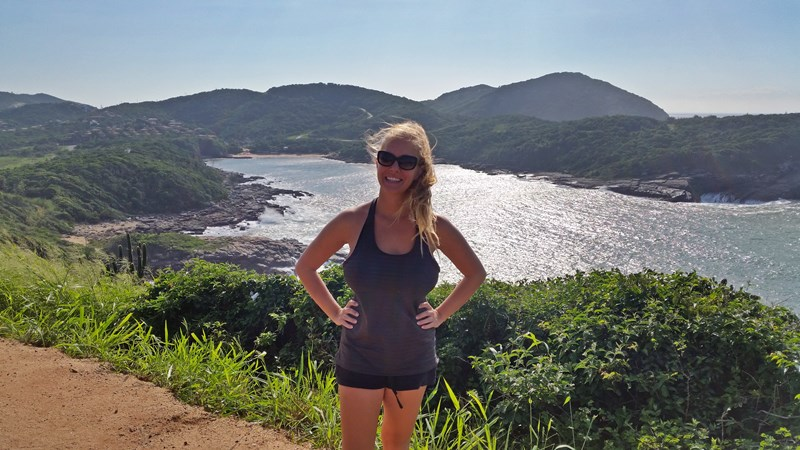 Stopping at scenic overlook in Buzios Brazil