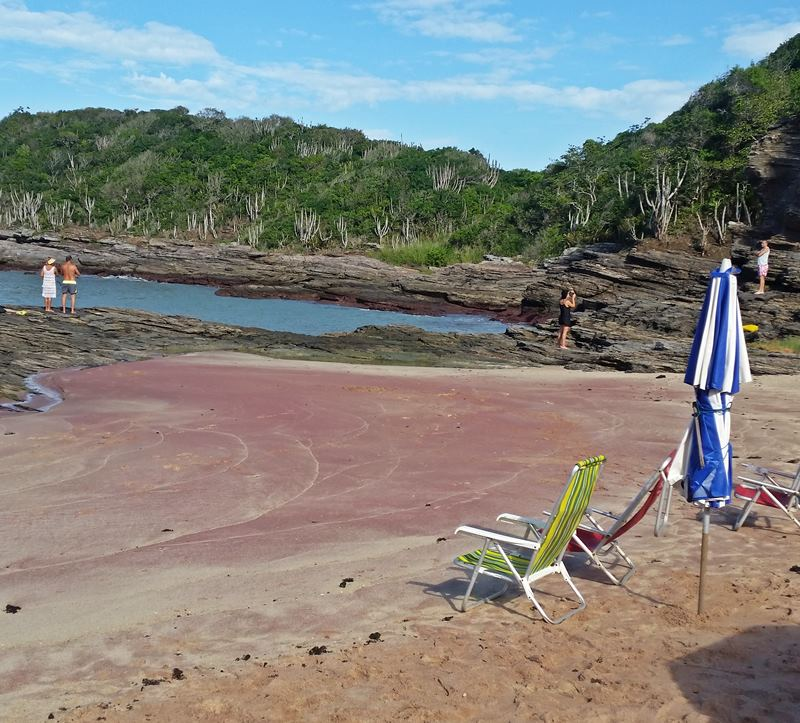 Private Red Sand Beach in Buzios Brazil