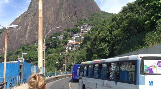 Rio Brazil Walking home bus system