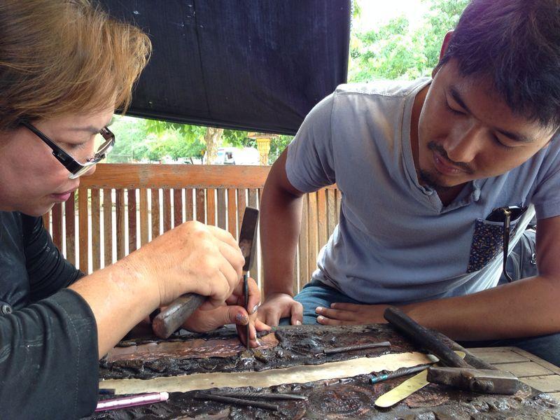 Founder Akash making jewelry