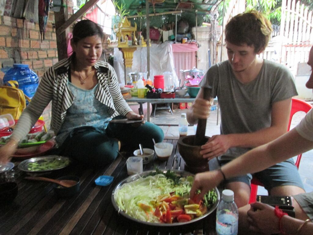 Backstreet Academy cooking in Cambodia
