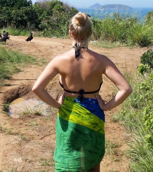 Brazilian Canga Skirt Watching Buzzards