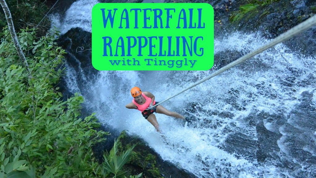Waterfall Rappelling in Jaco with Tinggly