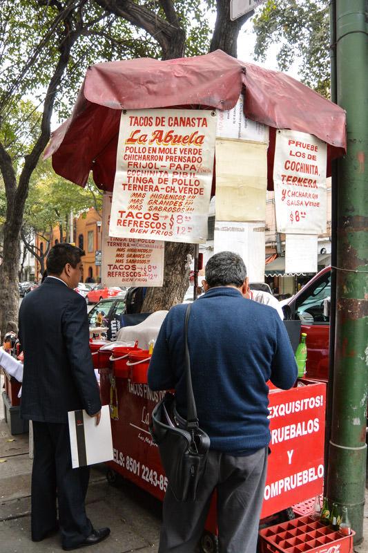 Eat Mexico Street Food Tour: Tacos de Canasta La Abuela
