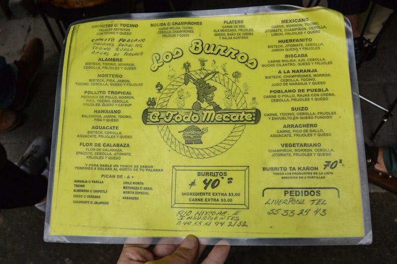 Eat Mexico Food Tour : Burritos