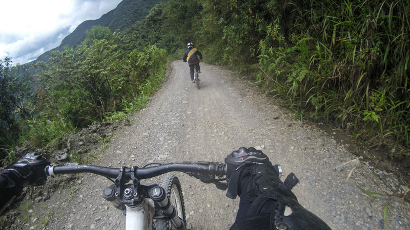Biking Death Road (World's Most Dangerous Road) in La Paz, Bolivia
