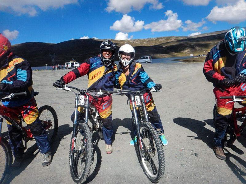 Biking Death Road (World's Most Dangerous Road) in La Paz, Bolivia