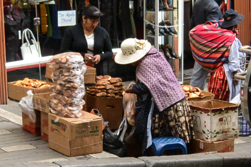 Vegetarian Food with a Street Vendor in La Paz Bolivia