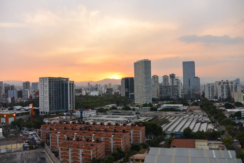 Sunset View of Polanco Mexico City from Home