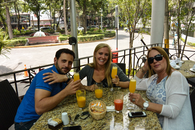Mimosas at Saks Polanco in Mexico City