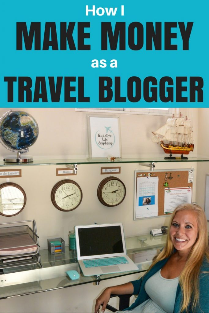 How I make money as a travel blogger