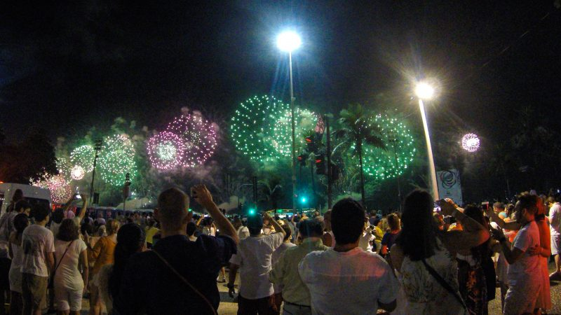 Celebrating New Years Eve in Rio de Janeiro