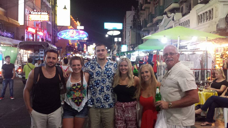 A Night out on Khao San, Bangkok, Thailand with my Family
