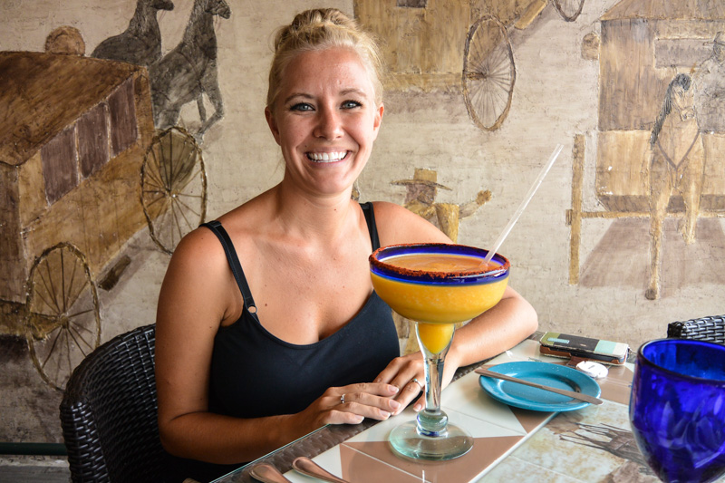 Stephanie Kempker Edri - Having a Margarita at the top of the Gran Hotel, Mexico City
