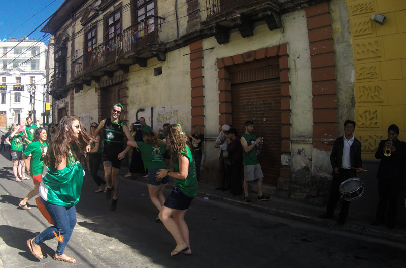 St. Patrick's Day in South America at Wild Rover La Paz