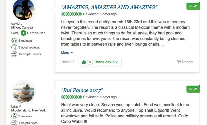 Review for All Inclusive Resort in Mexico