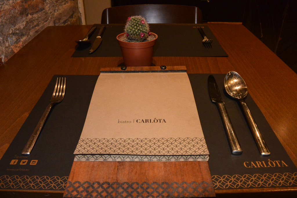 Vegetarian Dinner at Hotel Carlota Quito Ecuador