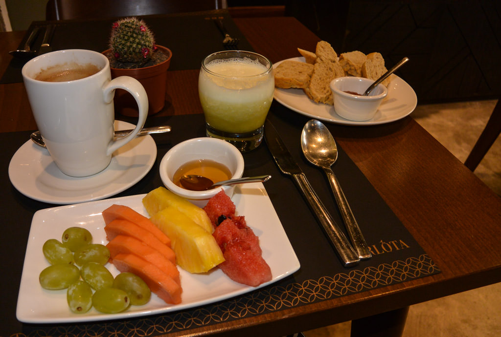 Breakfast at Hotel Carlota in Quito Ecuador