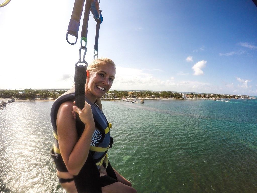 Parasailing in Belize