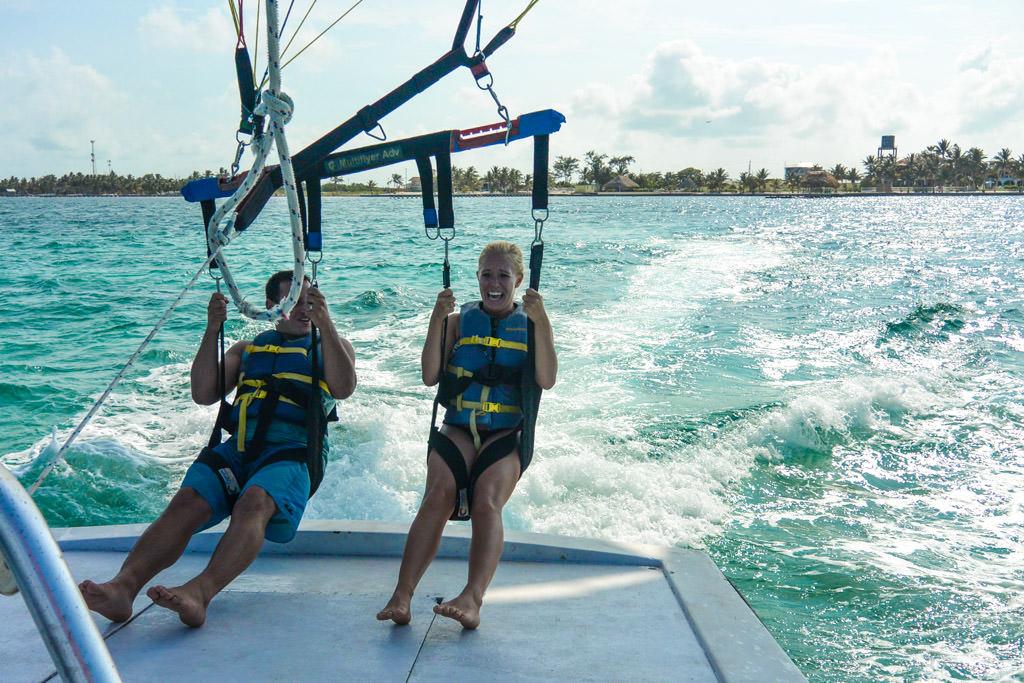 Parasailing in Belize: San Pedro, Ambergris Caye