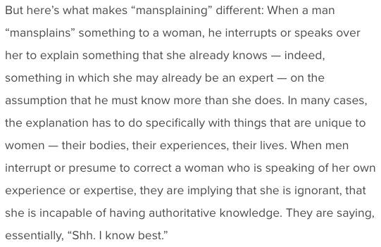 Definition of Mansplaining