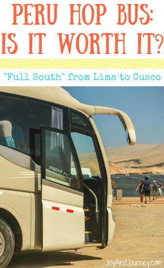 Peru Hop Bus: Full South Bus from Lima to Cusco
