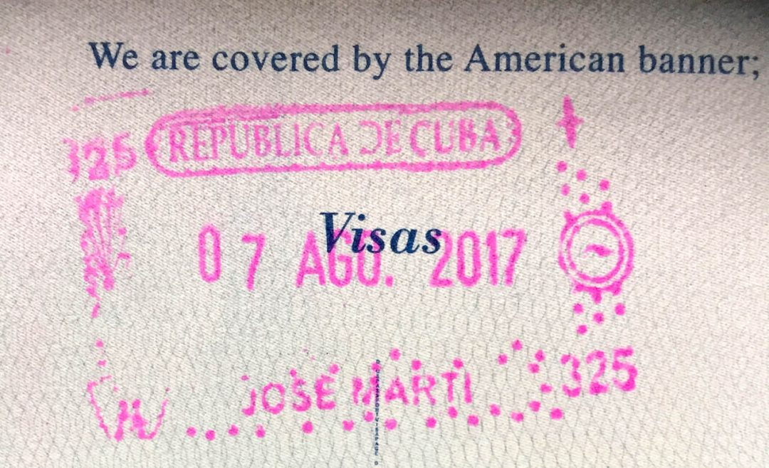 How Americans Can Travel to Cuba: Cuban Entrance Stamp in Passport