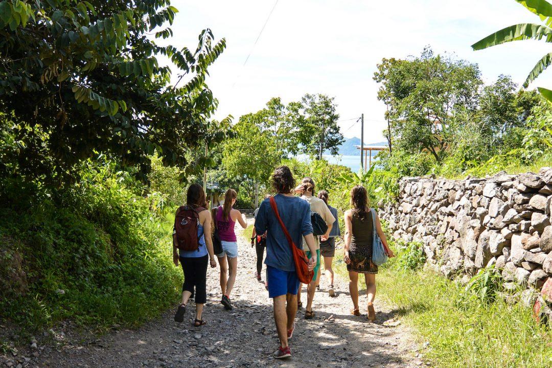 Hiking in Tzununa, Guatemala on a day off from Mahadevi Yoga Teacher Training