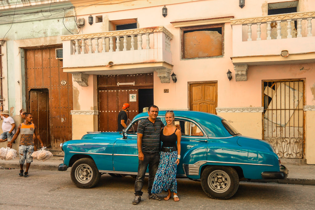With my classic car driver in Havana