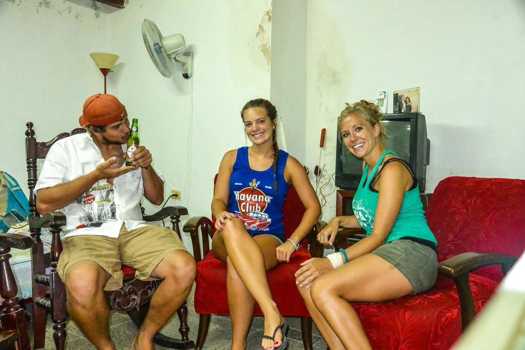 In our Havana, Cuba Airbnb: Stephanie Kempker Edri