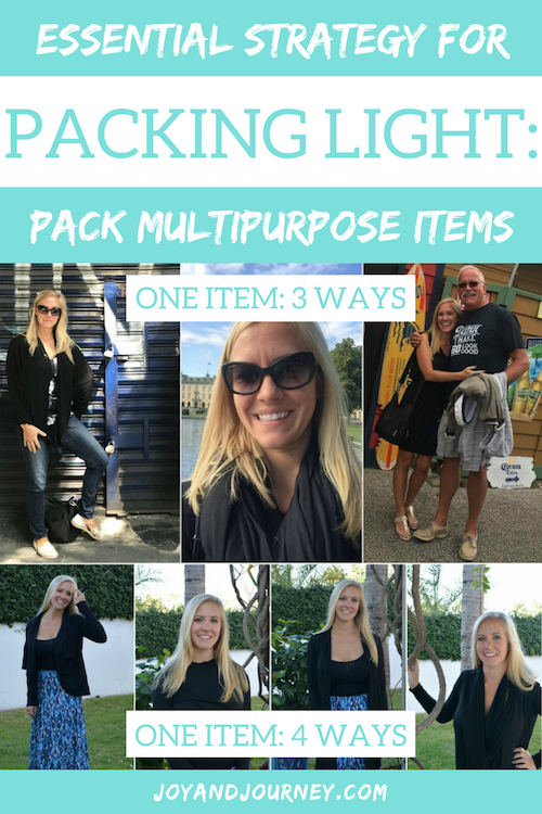Essential Strategy for Packing Light - Multipurpose Clothes for Travel
