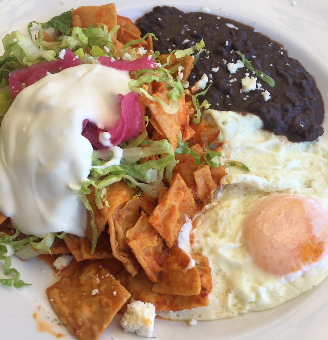 Chilaquiles Mexican food