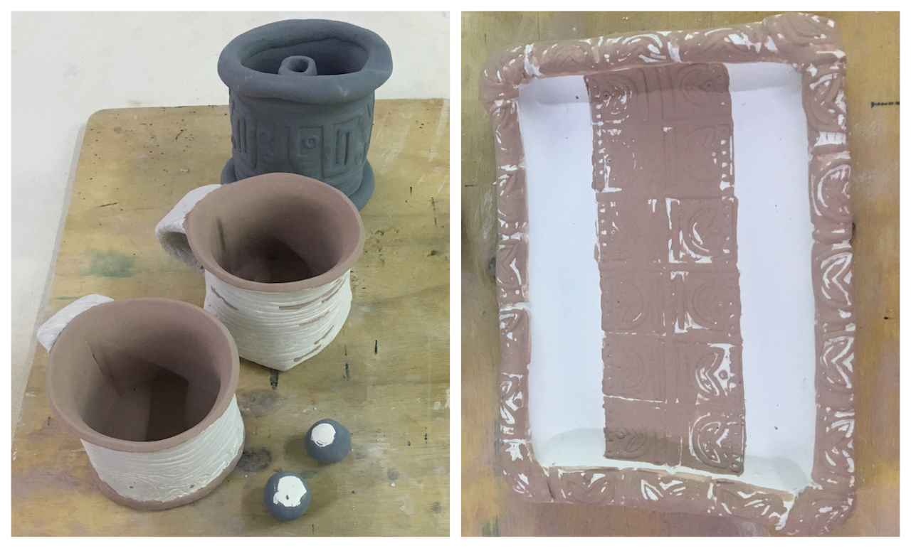 Learning how to hand-build pottery
