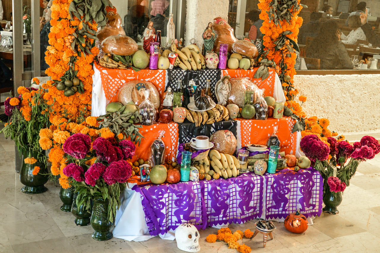 Ofrenda/Altar for Day of the Dead in Oaxaca