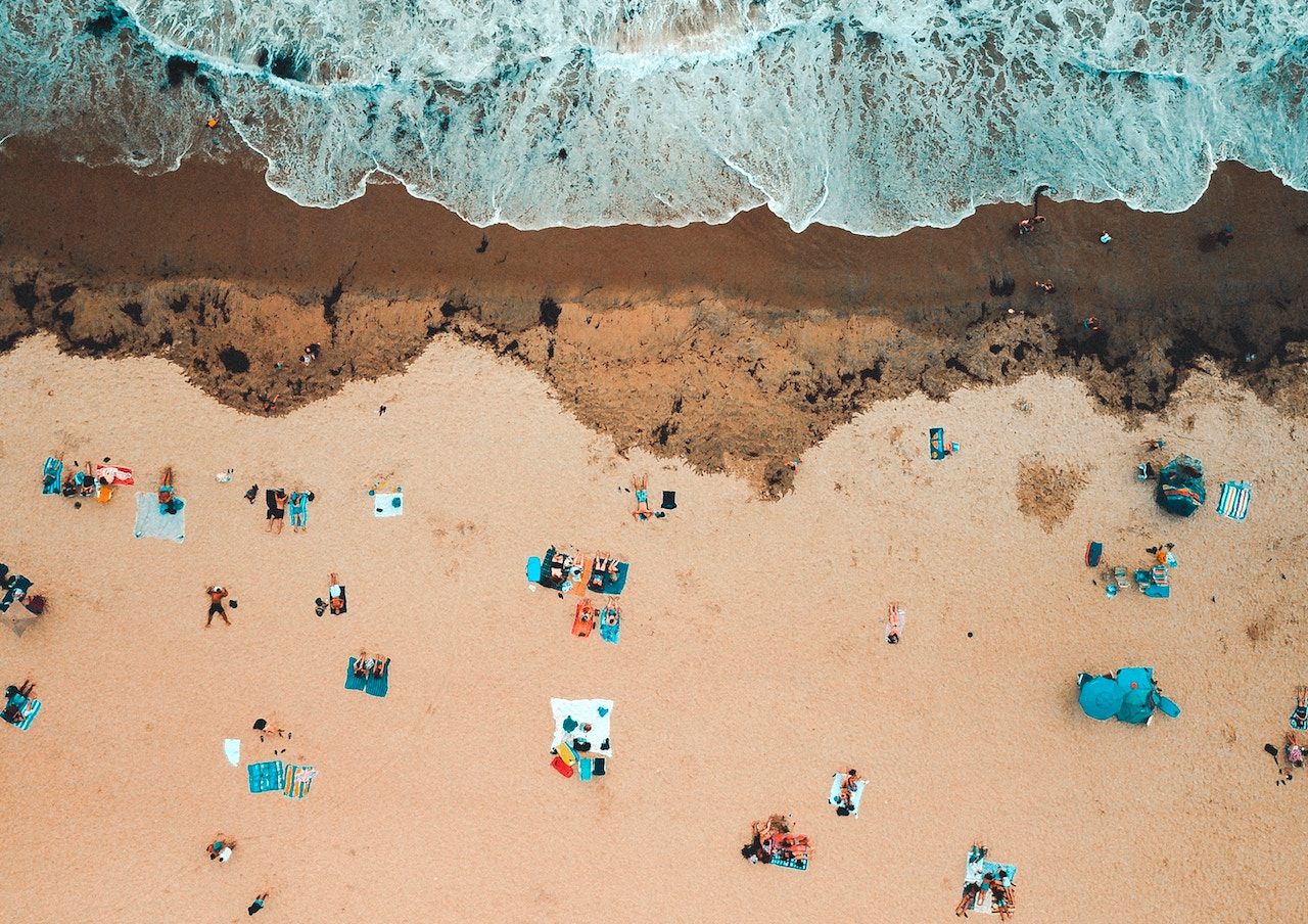 San Diego beach from above