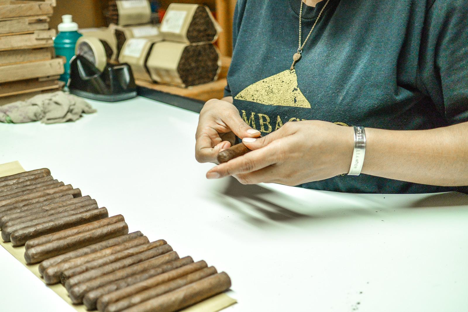 Woman rolling cigars in Granada Nicaragua