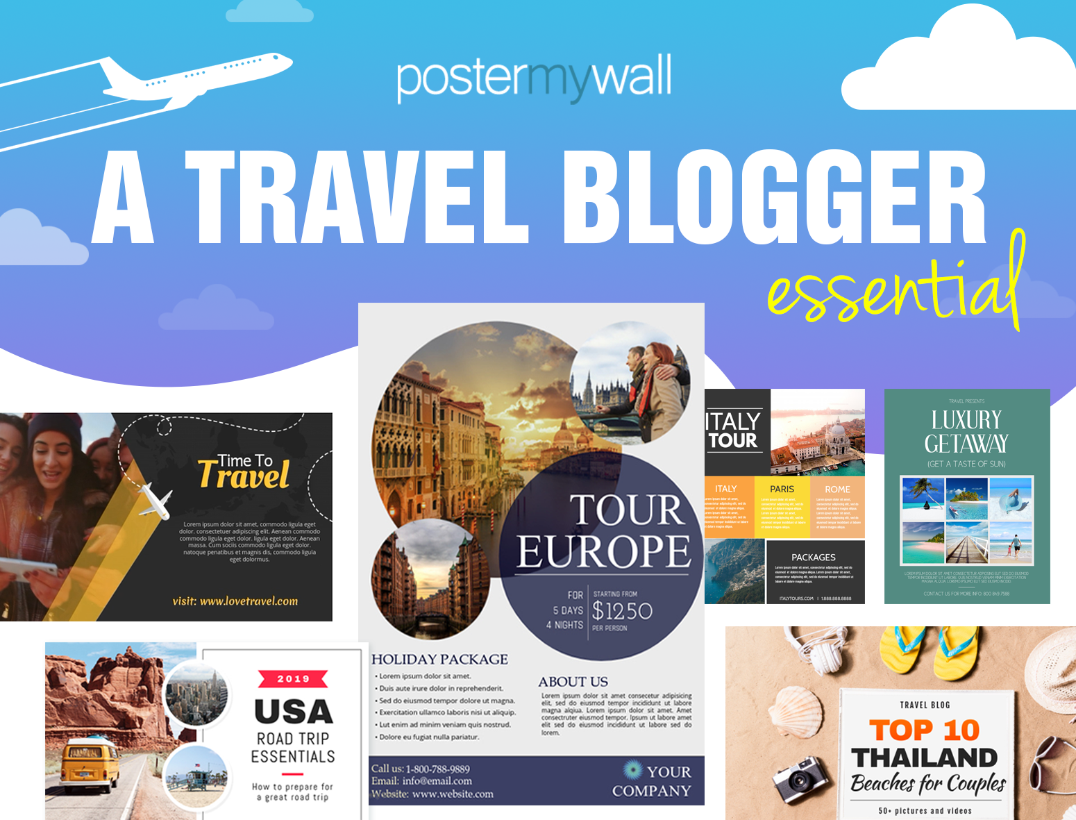 Create Stunning Visuals For Your Travel Blog With PosterMyWall